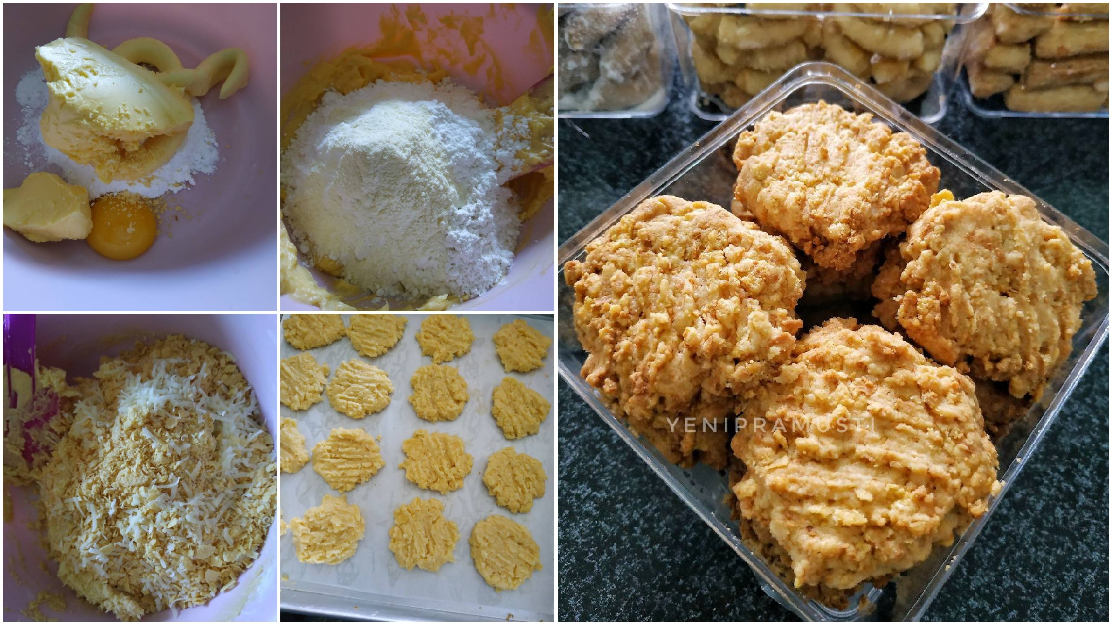 cornflakes cheese cookies kue lebaran manis  gurih pesan  tua Resepi Roti Telur Pedas Enak dan Mudah